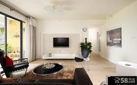 现代简约客厅液晶电视背景墙设计