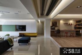 现代风格客厅过道吊顶装修设计