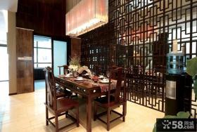 新中式风格餐厅效果图大全2013图片