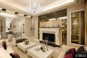 简欧风格客厅电视背景墙的效果图欣赏