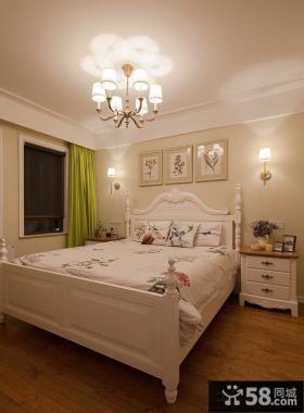 田园风格住房主人卧室图片