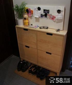 2013玄关实木鞋柜装修效果图片