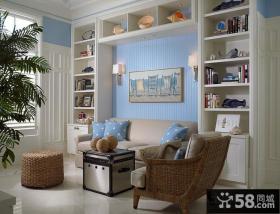 北欧清新的客厅装修效果图大全2014图片