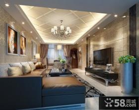 优质简约客厅电视背景墙装修效果图大全2013图欣赏