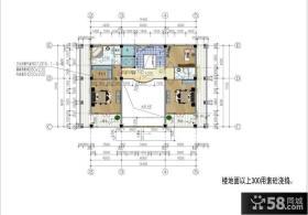 三层萨伏伊别墅二居设计平面图