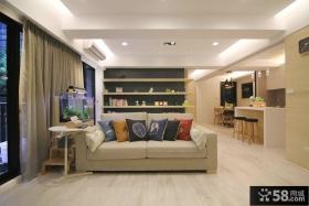 简约时尚两室两厅装修效果图欣赏