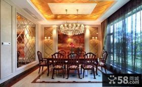 丽滩别墅豪华欧式风格餐厅吊顶装修效果图大全2014图片