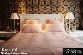 家装卧室壁纸装修效果图片
