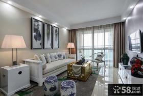 新中式家居客厅装修布置图片