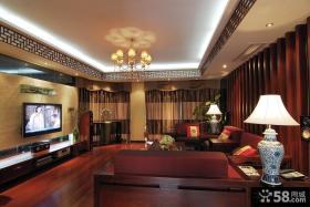 新中式客厅装饰吊顶