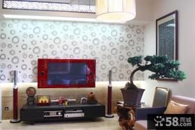 新中式风格客厅电视背景墙效果图大全