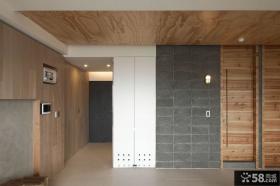 实木装修韩式家居玄关设计