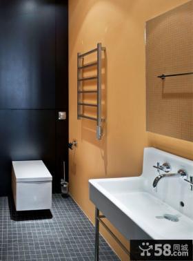 中式简约风格卫生间装修效果图片