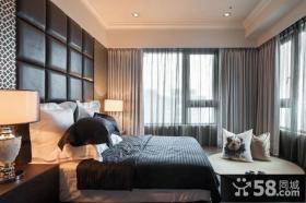 现代风格时尚卧室窗帘图