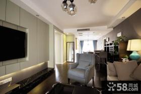 古典欧式风格客厅电视背景墙效果图
