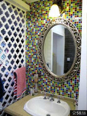洗手间马赛克瓷砖效果图片