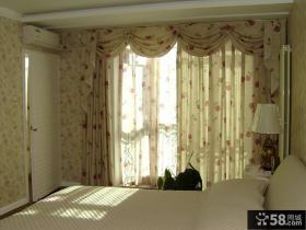 卧室碎花窗帘效果图图片