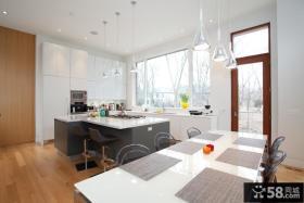 开放式厨房效果图 日式厨房装修效果图