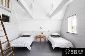 复式楼北欧风格卧室装修效果图大全2014图片