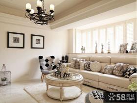 时尚美式风格二居室装修样板间效果图2014