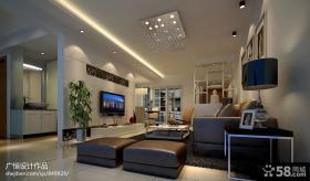 现代小客厅电视背景墙效果图