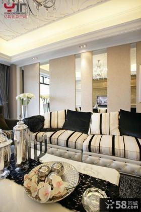 现代欧式客厅沙发效果图