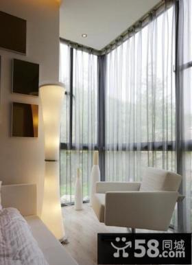 现代主卧室阳台效果图片