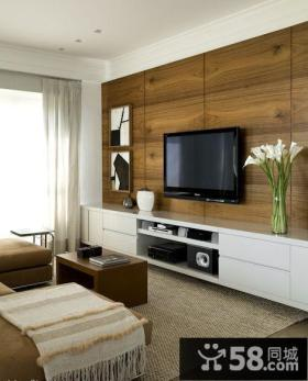 美式时尚优质客厅电视背景墙大全