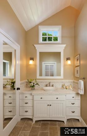 欧式卫生间浴室柜装饰设计图