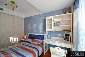 宜家美式间墙面色彩装修儿童房效果图