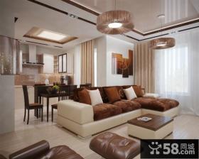 13万打造浪漫现代风格二居客厅电视背景墙装修效果图大全2014图片