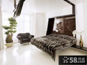 两室两厅卧室背景墙装修效果图