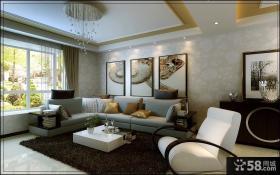 60平方客厅简欧风格唯美客厅装修效果图大全2014图片
