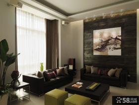 现代室内豪华别墅小客厅图