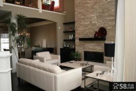 家庭别墅客厅电视背景墙欣赏