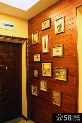入户玄关照片背景墙效果图