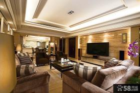 2014美式家装设计客厅电视背景墙图片欣赏