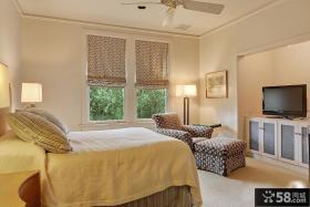 美式乡村风格简装卧室装修效果图