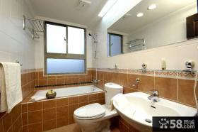 现代咖啡色瓷砖卫生间装修