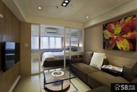 现代风格室内设计客厅电视背景墙图片大全