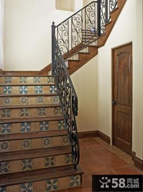 地中海家居楼梯设计效果图