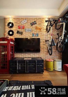 美式装饰客厅电视背景墙图