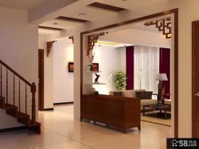 简约中式风格客厅装修效果图大全2014图片