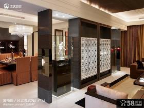 中式客厅屏风隔断装修效果图片大全