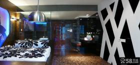 50平小户型现代单身公寓卧室装修效果图大全2013图片