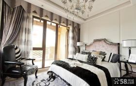 现代欧式卧室样板间实景图