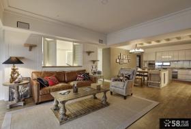 现代美式风格客厅装修图片大全