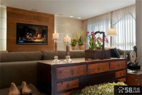 客厅电视背景墙装饰设计图片
