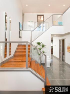 别墅不锈钢楼梯扶手图片