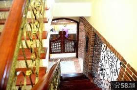欧式乡村风格楼梯装修图片